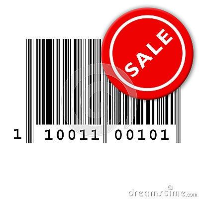 Bar code and sale sticker