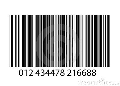 Bar-code on white