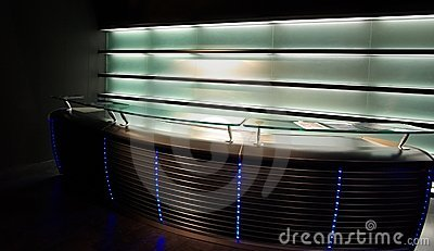 Bar display modern neon