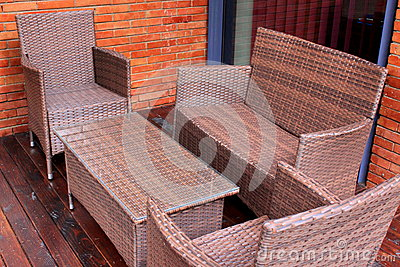 Rattan and wicker furniture