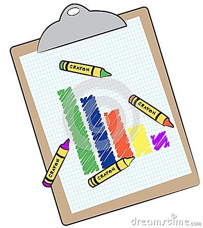 Bar graph on clip board