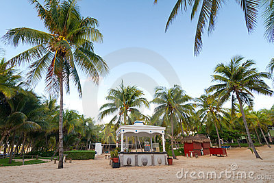 Bar of the Mexican resort