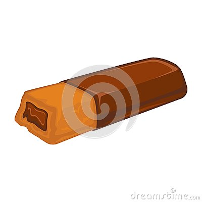 Free Bar Of Chocolate With Biscuit Inside Stuffed With Cacao Filling Isolated Royalty Free Stock Photos - 89729778