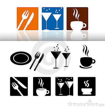 Bar & restaurant icon set