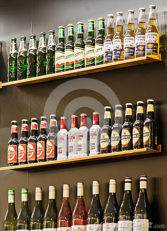 Bar Shelves Editorial Image