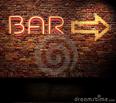 Free Bar Sign Royalty Free Stock Photo - 9417425