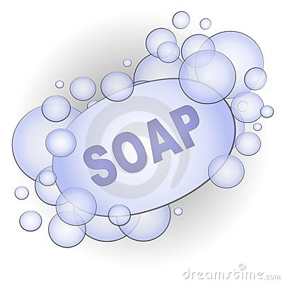 Bar of Soap Bubbles Clip Art