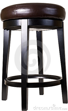 Bar Stool Over White