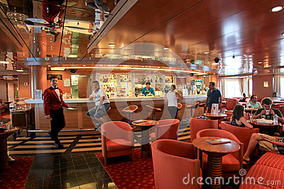 Bar in Superfast  ship Editorial Image