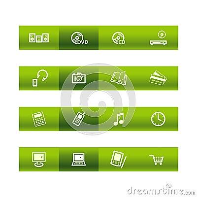 Bar zielone elektroniki domu ico