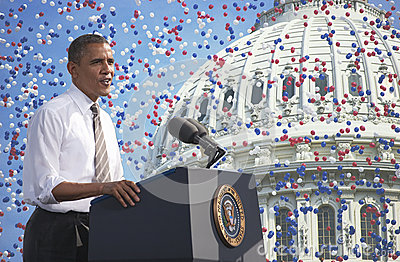 Barack Obama Redactionele Stock Foto