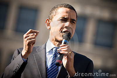 Barack Obama 3 Editorial Stock Photo