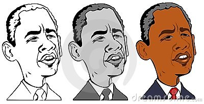 Barack obama caricature Editorial Photography