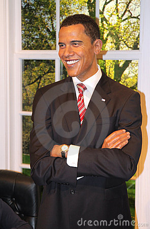Barack Obama at Madame Tussaud s Editorial Stock Image