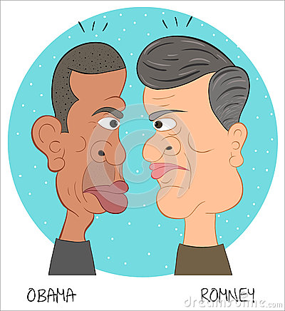Barack Obama and Mitt Romney 1 Editorial Image
