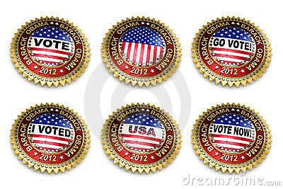 Barack Obama Presidential Election 2012 Buttons Editorial Photography