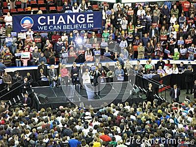 Barack Obama Rally Editorial Photography