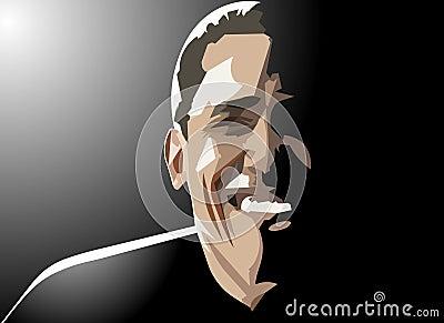 Barack obama smiles Editorial Photo