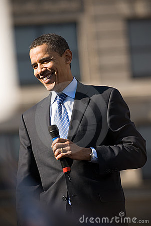 Barack Obama Smiling Editorial Stock Image