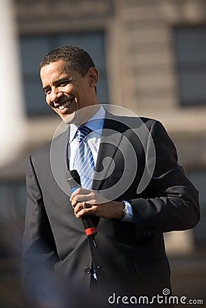 Barack Obama Smiling Editorial Stock Image