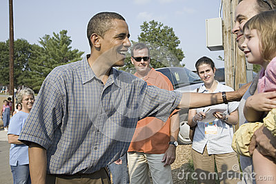 Barak Obama campaigning for President Editorial Photography