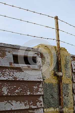 Barb Wire Security Fence