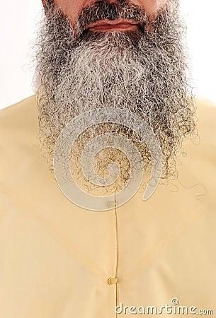 Barba longa, cabelo facial