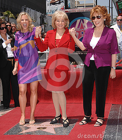Barbara Walters,Joy Behar,The View Editorial Photography