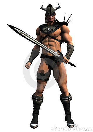 Free Barbarian With Sword Stock Image - 5008361