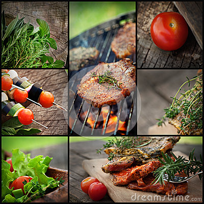 Free Barbecue BBQ Collage Stock Image - 31623781