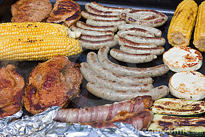 Barbecue with gas grill