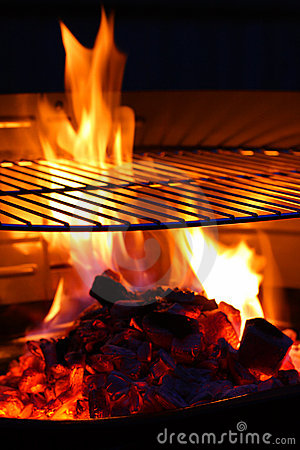 Free Barbecue Grill Flame BBQ Stock Photography - 4897042