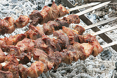Barbecue grill meat.