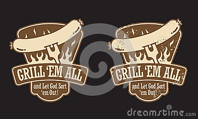 Barbecue Hot Dog Emblem