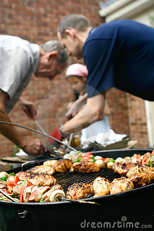 Free Barbecue In The Garden Royalty Free Stock Photo - 2928225