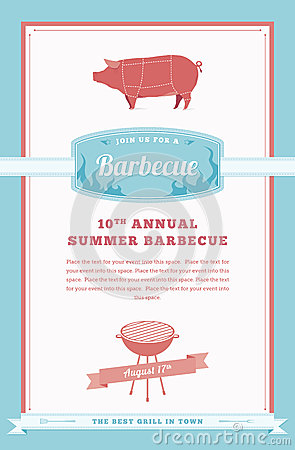 Pig Roast Invitation Template with great invitations layout