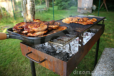 Barbecue with Steaks