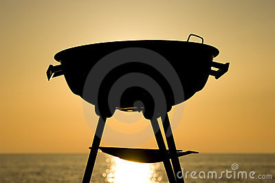 Barbecue at sunset