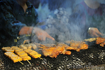 Barbecued Food in Taiwan Night Market