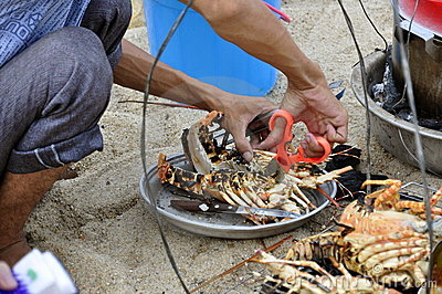 Barbecued Lobster