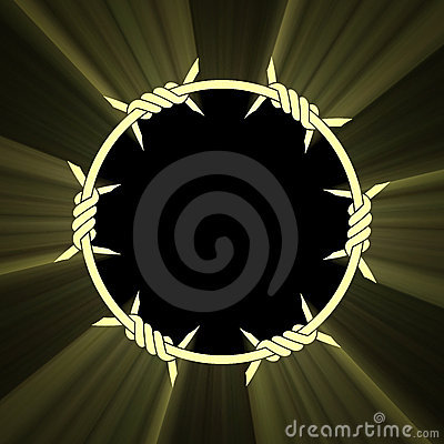 Barbed circular ring sun light flare