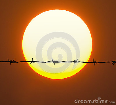 Free Barbed Wire Royalty Free Stock Photography - 85618087