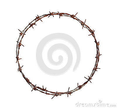Free Barbed Wire Circle Royalty Free Stock Photography - 98076137