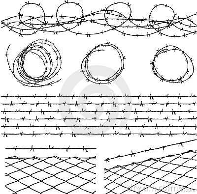 Free Barbed Wire Elements Stock Photo - 6018820