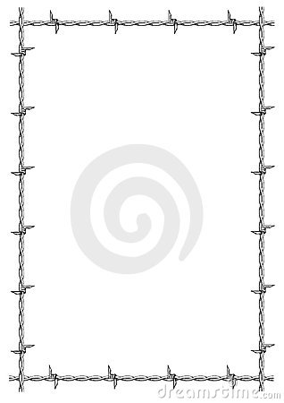 Free Barbed Wire Frame Vector Stock Images - 4640374