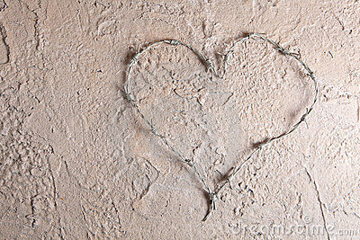 Plain Barbed Wire Heart Background Bent Into Inside Design Inspiration