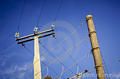 Barbed Wire Power Line