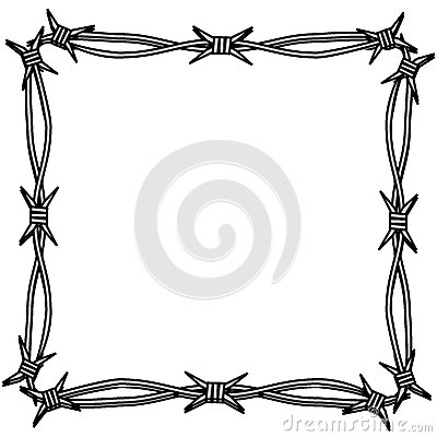 Barbed Wire Simple Frame Stock Illustration Image 41647376