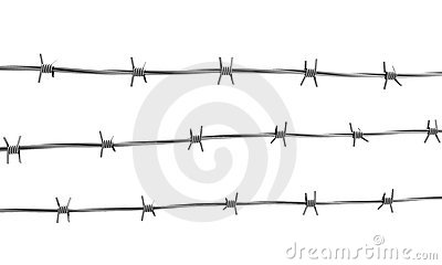 Barbed wire three lines