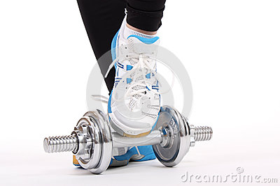 Barbell with shoes